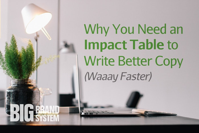 Why You Need an Impact Table to Write Better Copy (Waaay Faster)