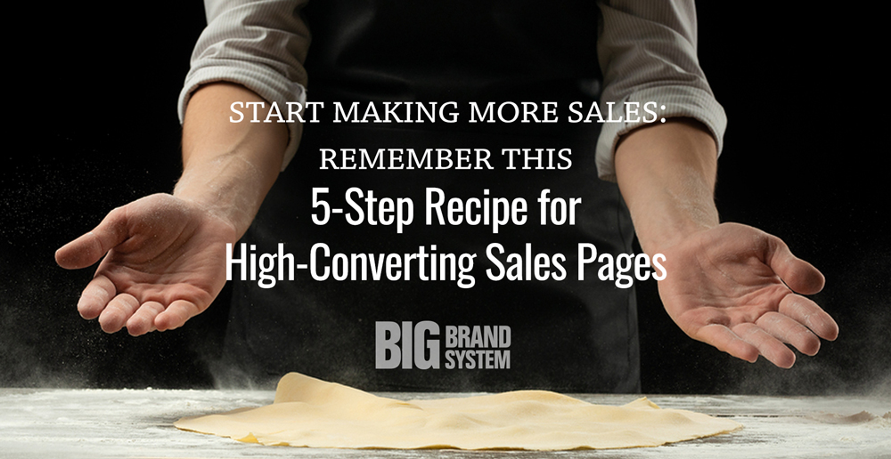 Get the recipe: Here's how to write a sales page